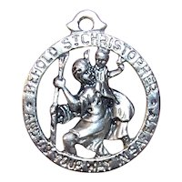 Sterling Silver Religious St Christopher Medal Pendant Charm