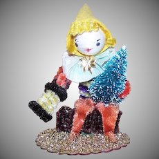 Vintage Chenille Christmas Figure