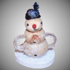 Vintage Christmas Snowman Putz Figure