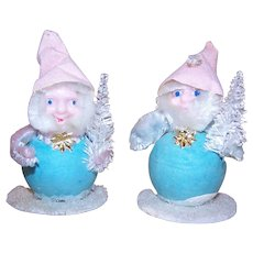 2 Made in Japan Elf Ornaments