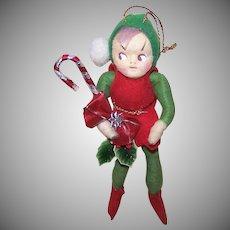 Made in Japan Spun Cotton Elf Ornament