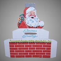Vintage Santa Claus Cardboard Christmas Bank