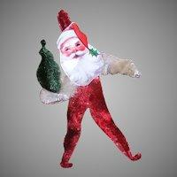 Vintage Handmade Chenille Santa Claus Ornament