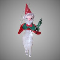 Vintage Made in Japan Spun Cotton Elf Ornament