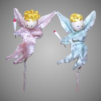 2 Made in Japan Chenille Angel Package Ties