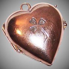 Victorian 14K Gold Diamond Heart Locket