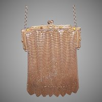 Vintage Gold Mesh Evening Purse