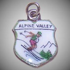 Sterling Silver Alpine Valley Charm