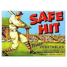 Safe Hit Vegetable Paper Label