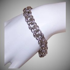 Retro Sterling Starter Charm Bracelet