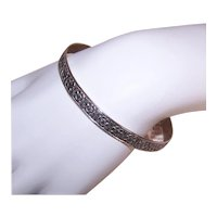 Jewel Art Sterling Bangle Bracelet