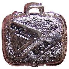 Monet Silver Tone Suitcase Charm