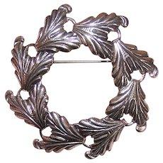 Danecraft Sterling Wreath Pin