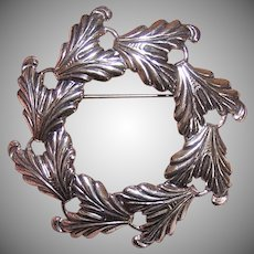 Danecraft Sterling Wreath Pin