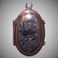Victorian Gold Filled Enamel Locket