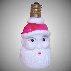Milk Glass Santa Claus Bulb