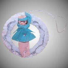 Art Deco Flapper Girl Ornament