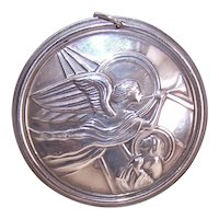 Dated 1988 Towle Sterling Silver The Angel Appeared Christmas Ornament