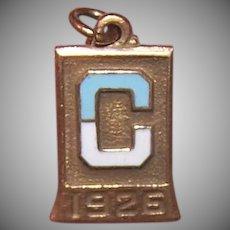 1926 Gold Filled Enamel Letter C Charm