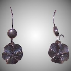 Sterling Silver NYE Pansy Earrings