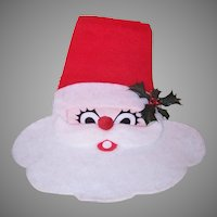 Vintage Santa Claus Fabric Wall Decoration
