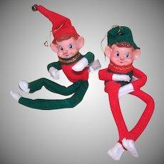 2 Vintage Bendable Elves