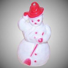 50s Rosbro Plastic Snowman