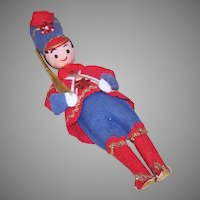 Vintage MIJ Soldier Christmas Ornament