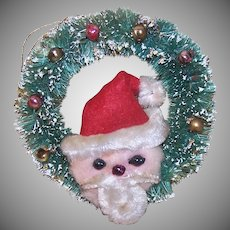 Bottle Brush Santa Claus Ornament