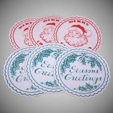 Vintage Christmas Drinks Coasters