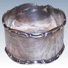 Towle 8669 Sterling Napkin Ring