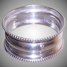 George K Webster Sterling Napkin Ring