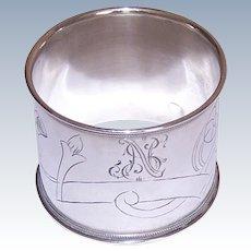 Russian 84 Silver Napkin Ring