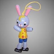 Vintage Wood Rabbit Crib Toy