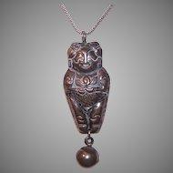 Asian Silver Figural Rattle Pendant