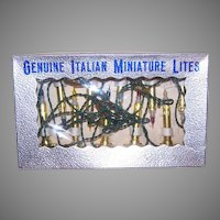 Vintage Boxed Set Italian Miniature Lights