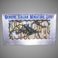 Vintage Boxed Set Italian Miniature Lights