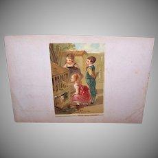 Antique Victorian Chromolithograph