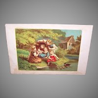 Antique Victorian Chromolithograph