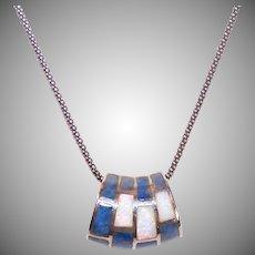 Sterling Silver Sodalite Opal Pendant