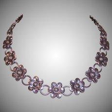 Danecraft Sterling Floral Necklace