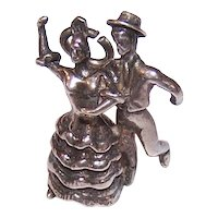 Sterling Silver Flamenco Dancers Charm