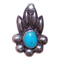 Made in mexico Mexican Sterling Silver Turquoise Pendant