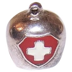 800 Silver Switzerland Bell Charm