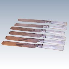 Set/6 Mother of Pearl Handled Knives