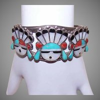 Sterling Native American Cuff Bracelet