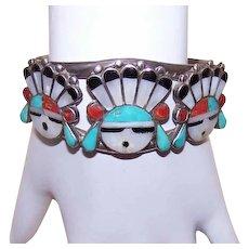 Sterling Native American Cuff Bracelet