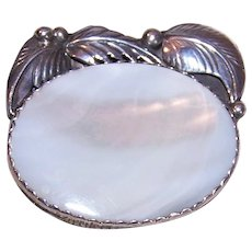 Sterling Mother of Pearl Pin Pendant