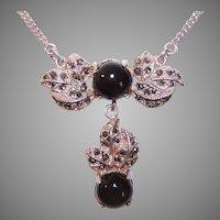 Vintage Sterling Marcasite Necklace