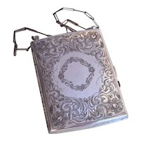 Art Nouveau Sterling Silver Coin Purse Coin Holder